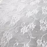 Floral Black Textile Stretch Jacquard Lace