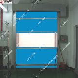 Tela de PVC de alta velocidad, tráfico de resumir las puertas para sala limpia