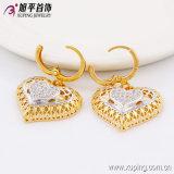 Best-Selling Elegante hart-Gevormde Veelkleurige Gouden die Juwelen voor Giften of Partij -63614 worden geplaatst