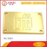 Progettare il marchio per il cliente in lega di zinco della borsa delle modifiche di nome delle modifiche del metallo