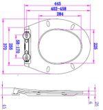 Cubierta de asiento estándar blanca de tocador del uF del cierre de la suavidad de Uinversal
