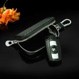 Fibre de carbone élégante compacte et portable portable portable spécial Geunie Porte-clés en cuir
