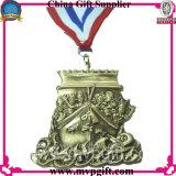 포상 메달을%s 리본 인쇄를 가진 예약된 금속 메달