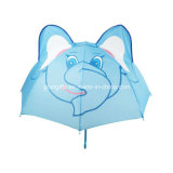 Parapluie automatique pour enfants avec tissu de polyester 190t et forme de lapin en 3D, mesure 45cm X 8k