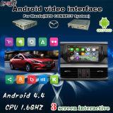Mais recente Sistema de Navegação de Android de Vídeo de Áudio de Quad-Core para o Suporte Mazda para Exibição no Monitor de Headrest