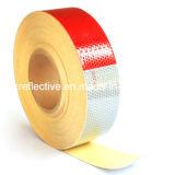 Красный и белый погрузчика на наклейке светоотражательная лента