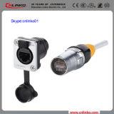 Der Qualität Clinko Marken-8p8c Terminalstecker-und Panel Montierungs-Kontaktbuchse Adapter-des Verbinder-IP65 für Signal-Gerät