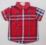 Niños de moda niño comprobar la camisa en los niños ropa prendas de vestir Sq-17114