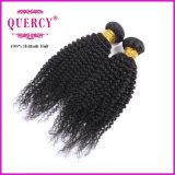 Pacote peruano do Weave do cabelo do Virgin da onda Kinky