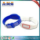 13,56 MHz MIFARE RFID HF pulsera de silicona para piscinas Parques acuáticos