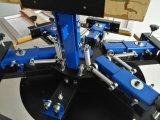 기계를 인쇄하는 6 색깔 t-셔츠 직물 색깔 실크 스크린