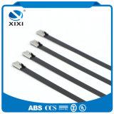 Петля провода нержавеющей стали связывает обруч кабеля аккуратный