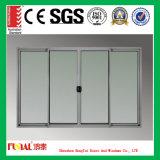 Porte coulissante en alliage d'aluminium avec verre haute sécurité