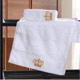 安い販売のホテルおよび浜のための100%年の綿の白いタオル