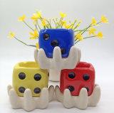 Maceta de cerámica Jardín Colgante dulces diseño con la sembradora para un suculento