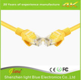 Cable descubierto del cobre UTP CAT6 del color amarillo