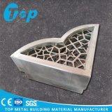 Panneau perforé en aluminium de façade de fabrication en métal pour la décoration
