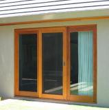 Finestra di scivolamento dell'alluminio di vetratura doppia con la griglia