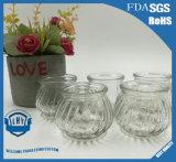 Originalidade em forma de abóbora vela de vidro de vidro titular