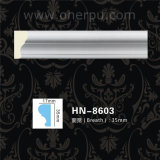 Cornisa del poliuretano de la decoración del techo de la PU que moldea Hn-8603