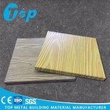 Du grain du bois du panneau de revêtement de mur solide en aluminium