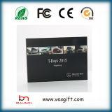 Tarjeta de la invitación del folleto del vídeo de la pantalla del LCD de 4.3 pulgadas