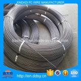alambre de 4m m del hierro o del acero no aliado con las costillas espirales