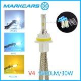 Farol do diodo emissor de luz de Markcars 9004 para a lâmpada da cabeça do carro