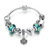 Antiker Inner-Anhänger u. grüne Blumen-Raupe-Liebes-Armbänder u. Armbänder für Frauen-Schmucksachen