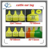 étiquettes vétérinaires circulaires de collet de 80*65mm