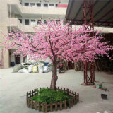 Hotel decorativo Silk Lifelike Artificial Faux Peach Plum Blossom Tree