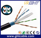 4X0.45mmcu+0.9 Mmpe+O.D.: 6.1mm+Outdoor UTP CAT6 Network Cable