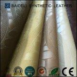 Couro sintético gravado do PVC para o sofá e a mobília