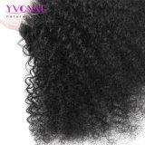 Закрытие 100% шнурка волос девственницы Afro курчавое бразильское 4X4 освобождает цвет закрытия человеческих волос части естественный