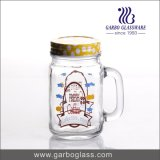 vaso di muratore di vetro di Mutil-Colore 450ml con paglia