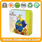 Quadratische Schokoladen-Blechdose für Verpacken- der Lebensmittelmetallzinn-Schokoladen-Kasten