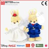 Jouet mou de lapin de peluche de poupée de son de cadeau de mariage de Valentine