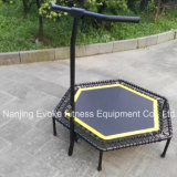 Outdoor Fitness Equipment Jumping trampolim hexagonal com barra de punho
