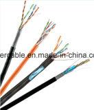 Cable de LAN del CCTV de la alta calidad Cat5e con los alambres de la potencia para la seguridad