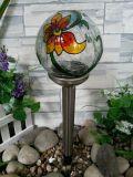 SolarEdelstahl-Glaskugel-Licht-Knistern-Glaskugel-Farbe, die Solarlicht anstreicht