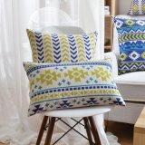 Desconto Personalizado de roupa de algodão a TEAL deite travesseiro para sofá