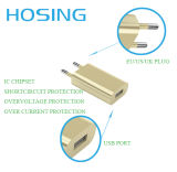 5V 1A EUのプラグを持つ白い黒USBの壁の充電器