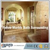 Elegante weiße/graue/gelbe Marmorfliese für das Badezimmer-Umgeben/Fußboden/Wand