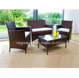 Insieme esterno della mobilia di stile del patio di vimini semplice per qualsiasi tempo del rattan