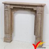 Europeo de la vendimia decorativa de madera chimenea de la chimenea