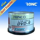 Al por mayor de 4,7 GB 16X 120min DVD en blanco con el precio FOB