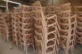 家具を食事するブナのカシの純木のホテルの宴会の藤の十字Xの背部椅子