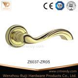 가구 기계설비 부속품 자물쇠 레버 아연 합금 문 손잡이 (Z6086-ZR03)