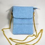Sacchetto di spalla tessuto borsa del telefono delle cellule della moneta della ragazza delle donne mini