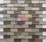 Mosaico de cerámica beige caliente la mezcla de forma de tiras de vidrio (CSA721)